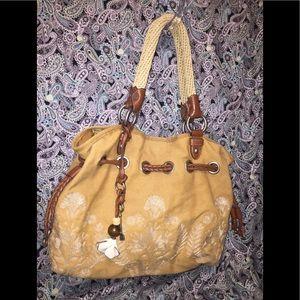 Fossil's Goldenrod Canvas Hobo Bag